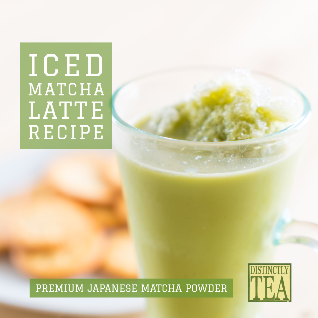 Iced Matcha latte recipe from distinctly tea