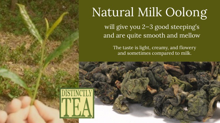 Natural Milk Oolong tea from Distinctly Tea Inc