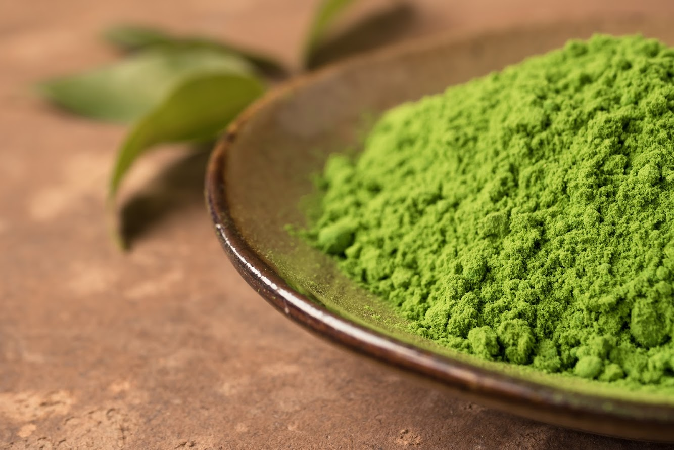 green tea powder organic from distinctly tea inc