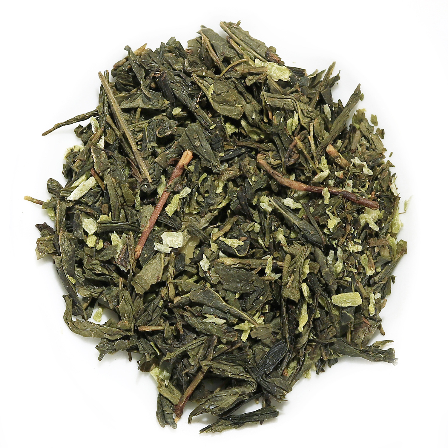 Green coconut almond tea 3956 distinctly tea inc