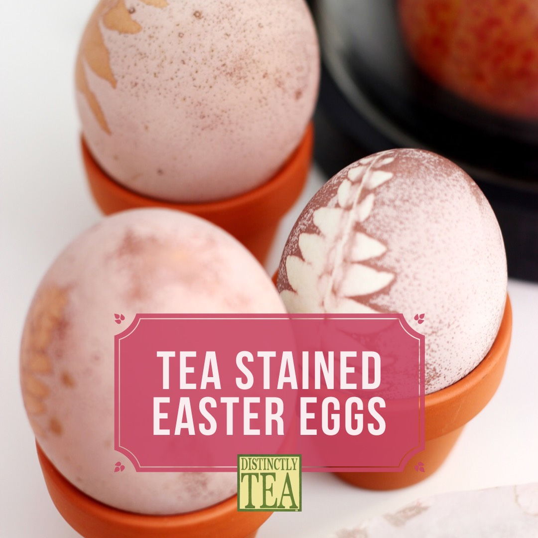 tea stained easter eggs
