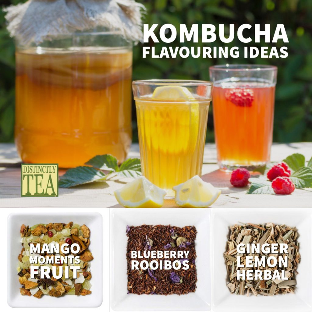 kombucha flavouring ideas from distinctly tea