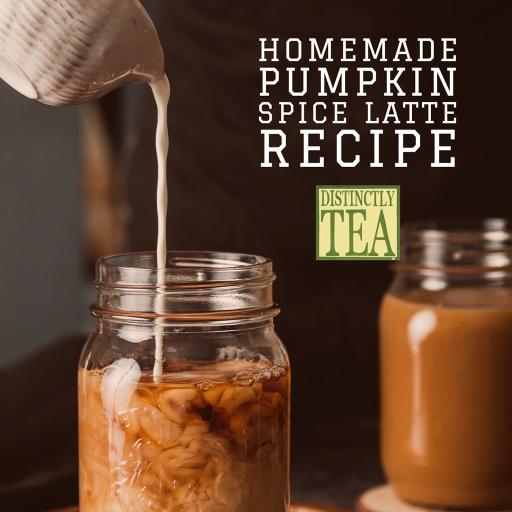 homemade pumpkin spice latte recipe from distinctly tea inc