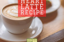 Cinnamon heart latte recipe from Distinctly Tea