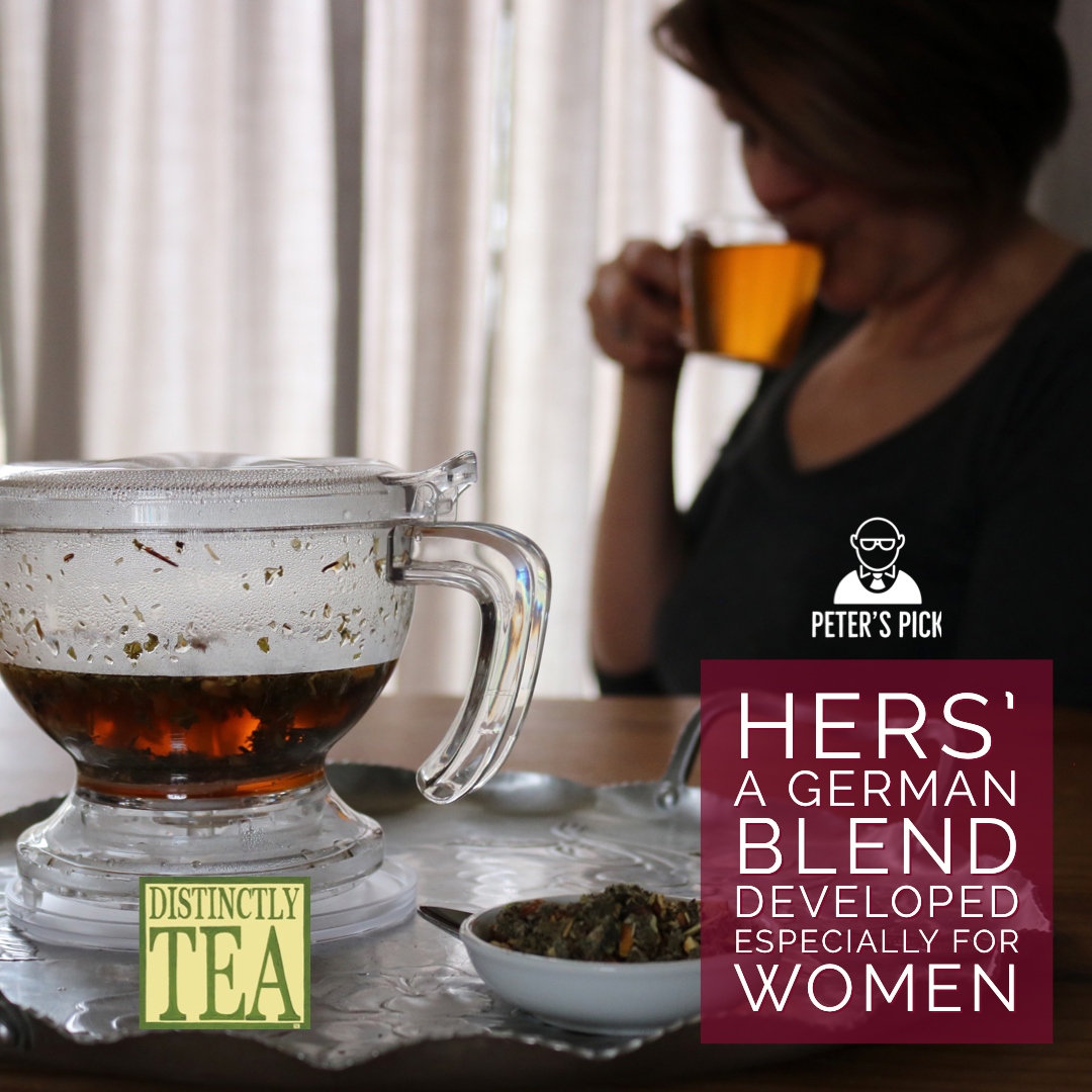 Hers is a German herbal tea blend developed especially for women from distinctly tea inc