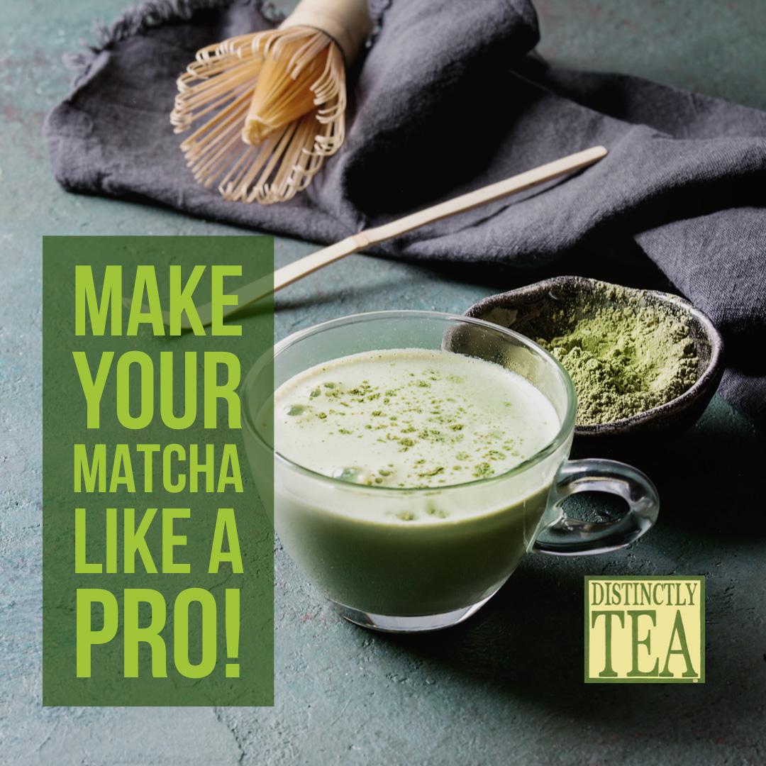 make your matcha like a pro with distinctly tea matcha tools