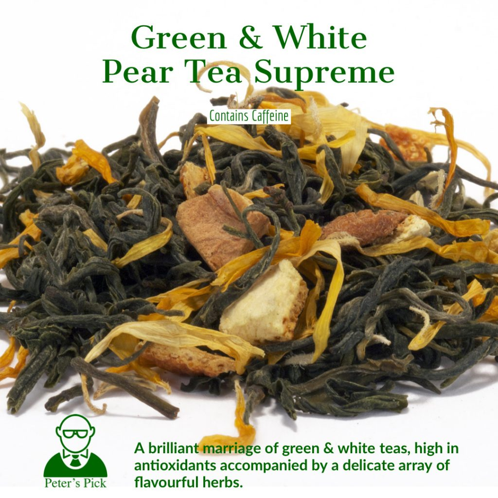 green and white pear supreme tea from distinctly tea