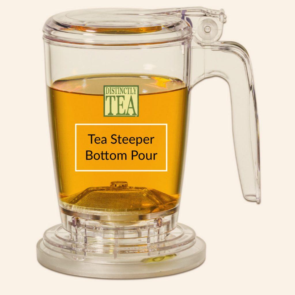 tea steeper bottom pour from distinctly tea