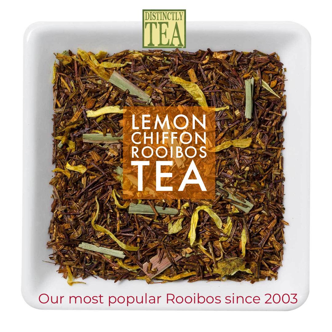 lemon chiffon rooibos tea from distinctly tea