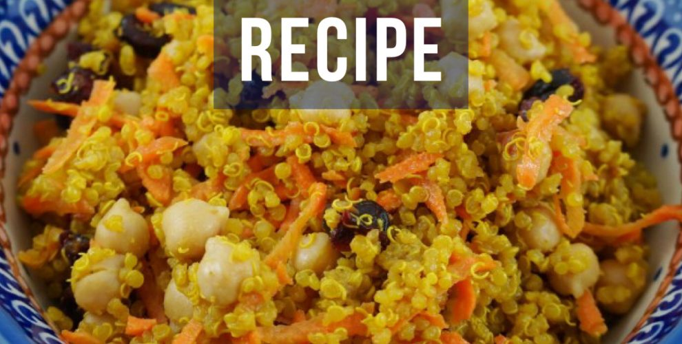 lemon quinoa salad recipe from distinctly tea