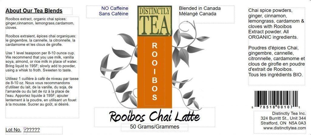 Rooibos Chai Latte Mix 50 Gram Tin Distinctly Tea