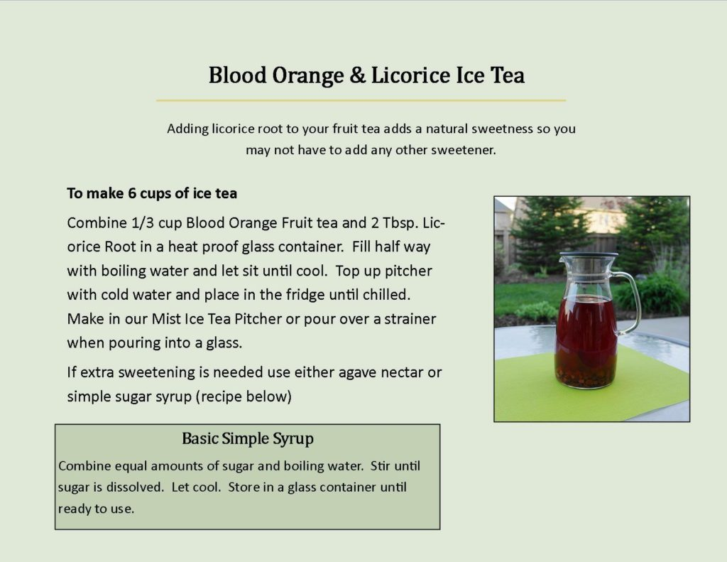 Blood orange & Licorice ice tea