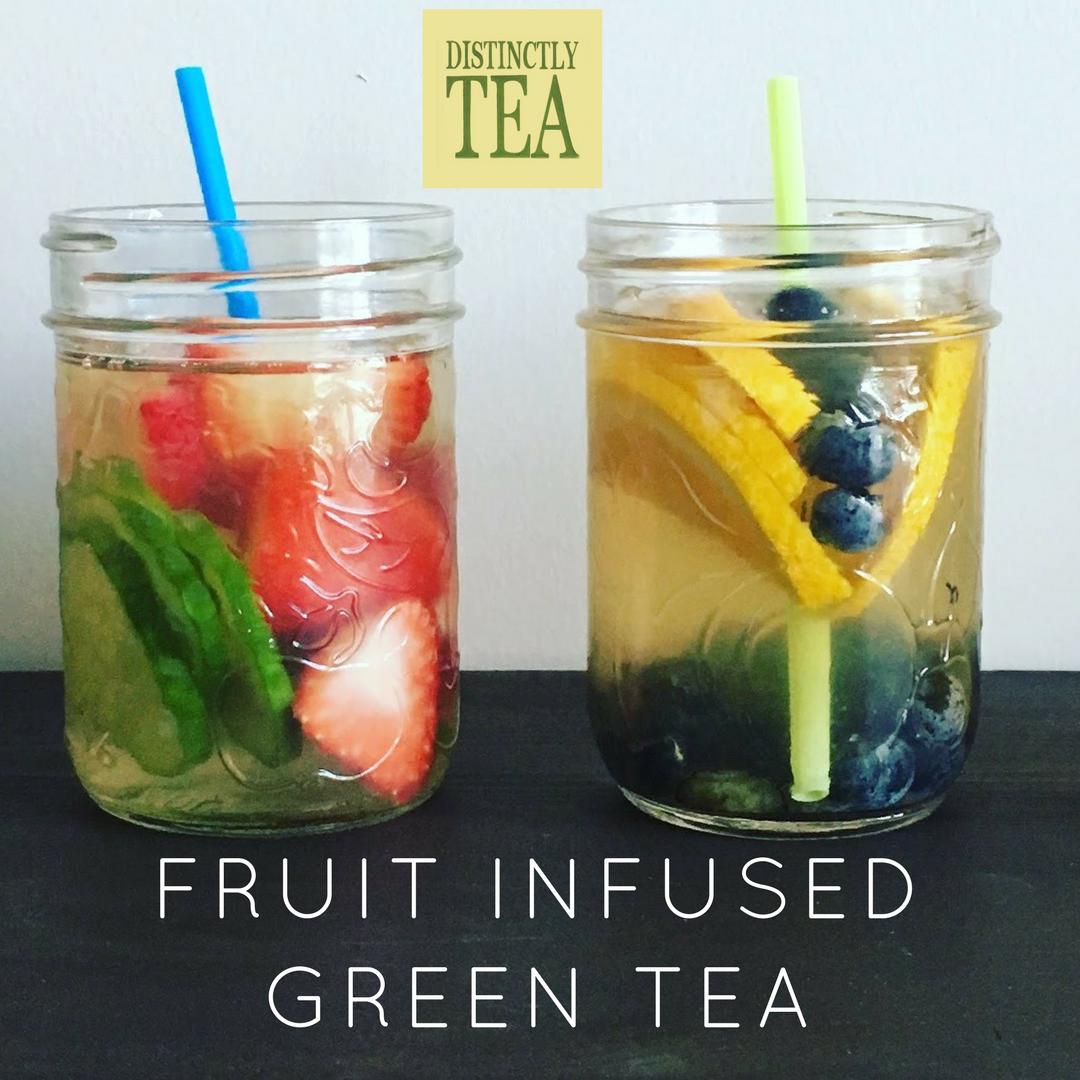 Fruit infused green tea distinctly tea inc