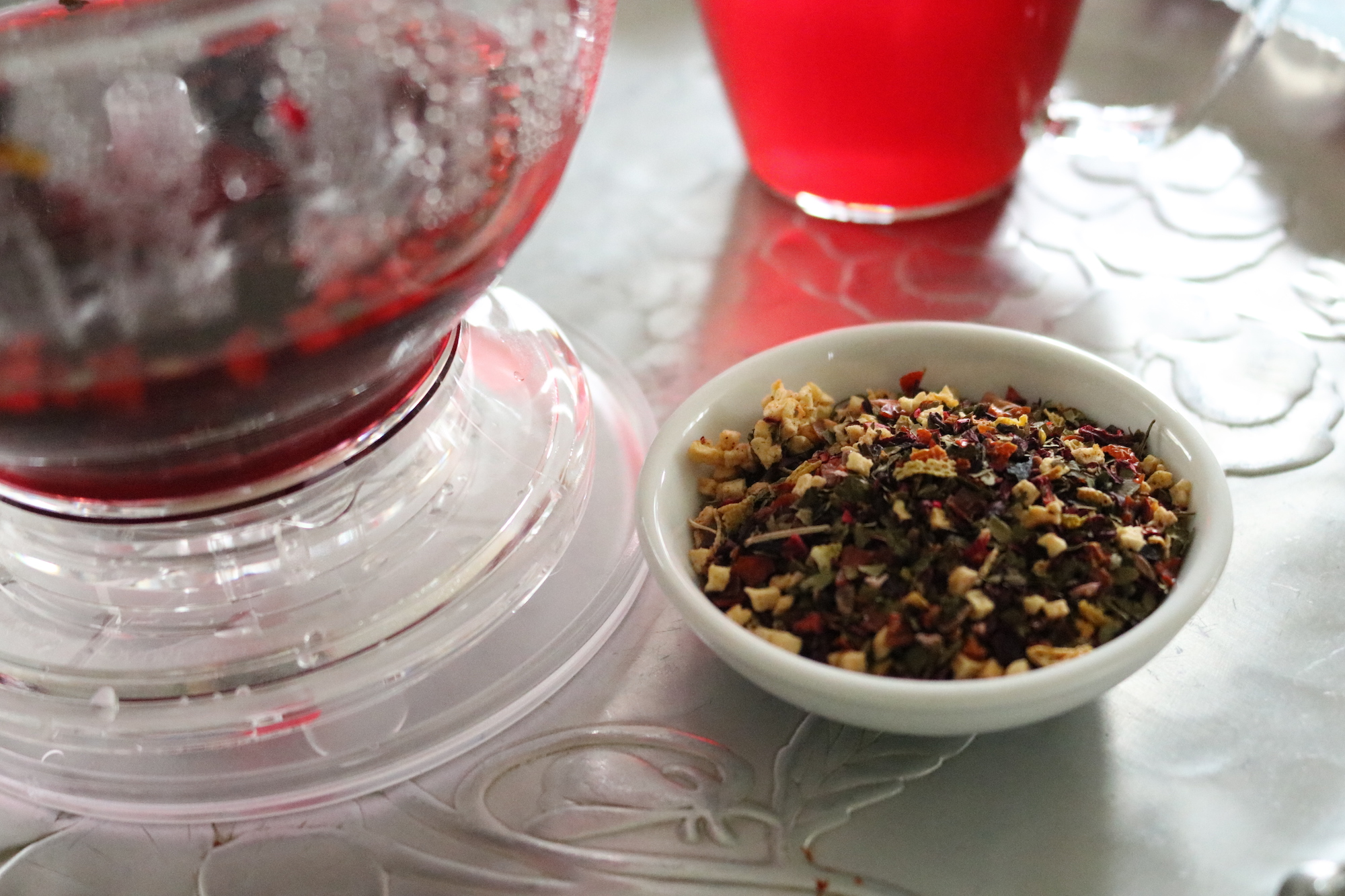 raspberry supreme tea from distinctly tea inc