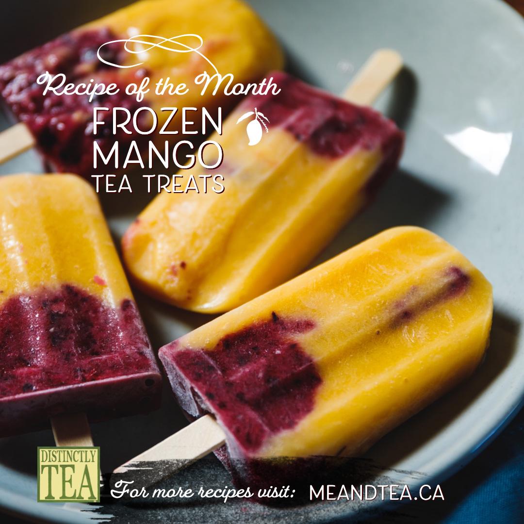 Frozen mango tea popsicle recipes from distinctly tea inc