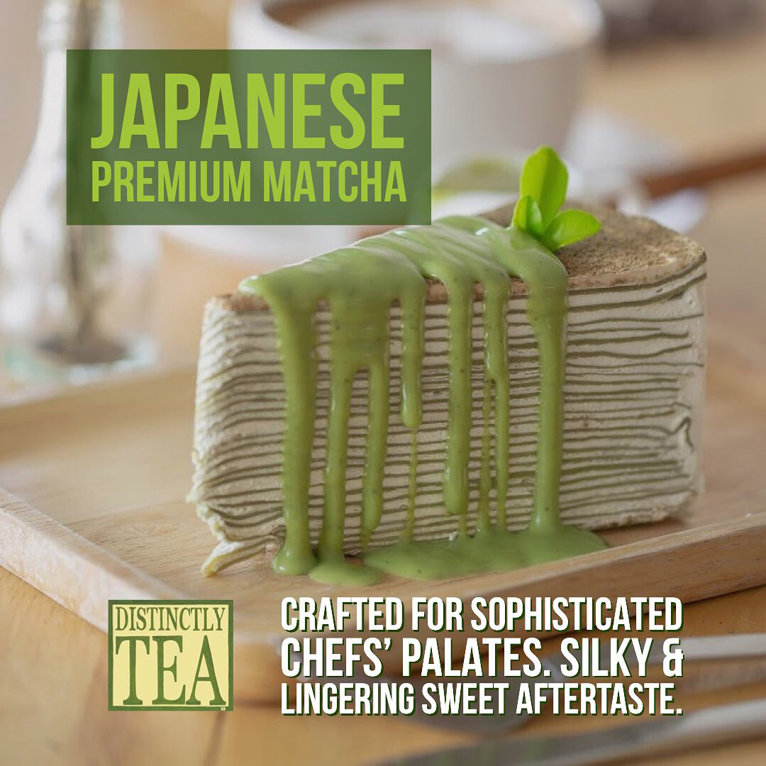 Organic Japanese shade-grown greentea Matcha powder - distinctly tea inc