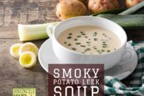 Smoky potato leek soup recipe from distinctly tea inc