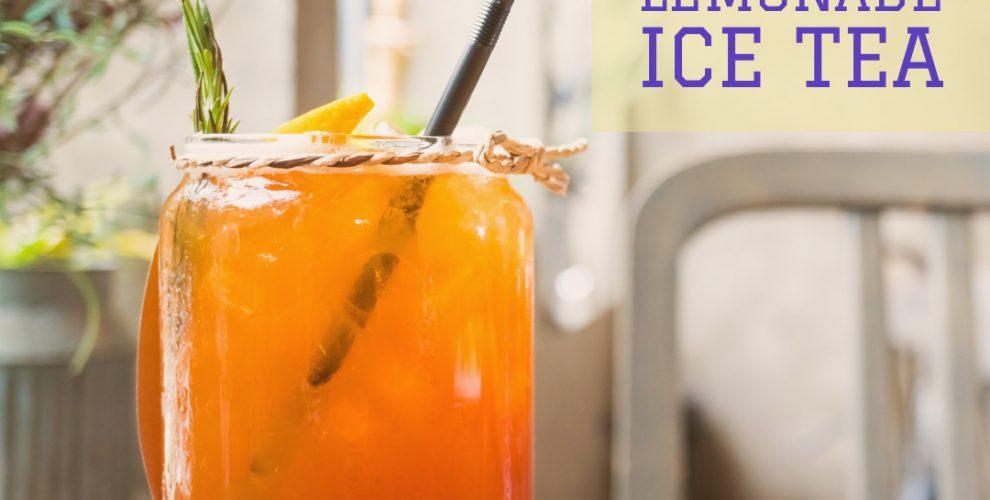 homemade Lemonade Ice Tea recipe from distinctly tea