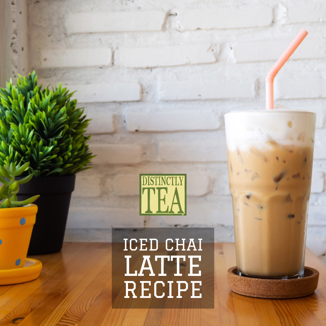 iced chai latte recipe from distinctly tea