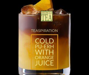 cold pu-erh with orange juice from distinctly tea inc